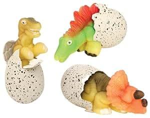 Toysmith Ginormous Hatchin' Grow Dino #8538 (Pack of 3 Random Eggs)