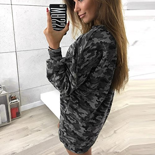 Longues Imprim Sweat Robe Pull Oversize Robe camouflage OverDose Hoodie Manches Camouflage 8nPwq7
