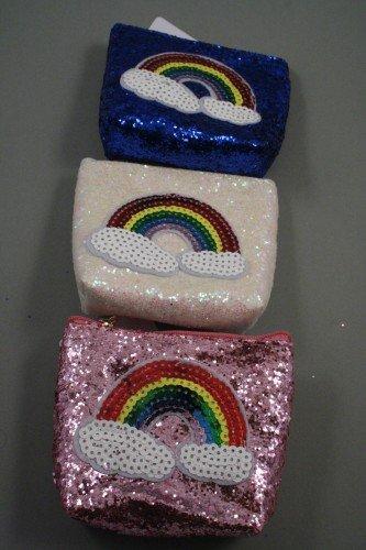 Monedero con cremallera y lentejuelas, diseño de arcoíris En ...