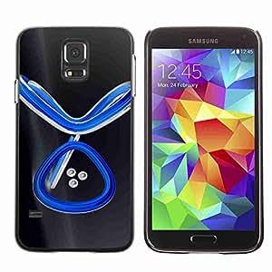 Planetar® ( Abstract Blue ) Fundas Cover Cubre Hard Case Cover Samsung Galaxy S5 V SM-G900