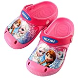 Disney Frozen Elsa Anna Girls Pink Slippers Clog Mule EVA Shoes (Parallel Import/Generic Product) (11 M US Little Kid)