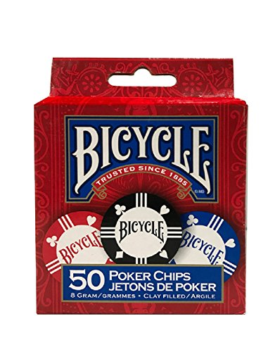 Naipes Heracli Fournier S.A Bicycle Premium Tournament Poker Chips with Tray
