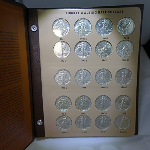 1941 - 1947 Short Set - 90% Silver Liberty Walking Half Dollars P, D, & S. 20 Coins XF/AU