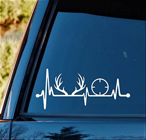 deer head heart decal - 9