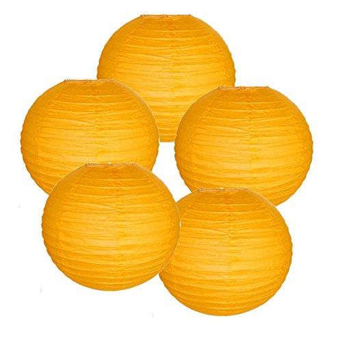 Just Artifacts ペーパーランタン5点セット - (6インチ - 24インチ) 20inch AMZ-RPL5-200032 B01CEX8FL6 20inch|ライトオレンジ ライトオレンジ 20inch