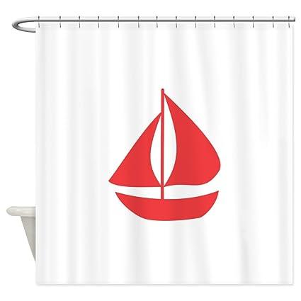Amazon CafePress Nautical Sailboat Shower Curtain Decorative