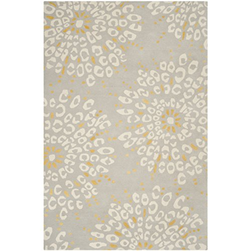 Safavieh Capri Collection CPR355A Handmade Grey and Ivory Premium Wool Area Rug (8' x 10')