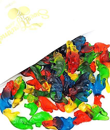 Haribo Gummi Dinosaurs Candy | Bulk Dino Gummy | Strawberry, Mango, Banana, Melon, and Blackcurrant | 3 pound
