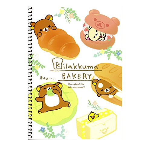 San-X Rilakkuma Bakery Series Blank Spiral Notebook Note Pad 4 Designs Available (Floral)