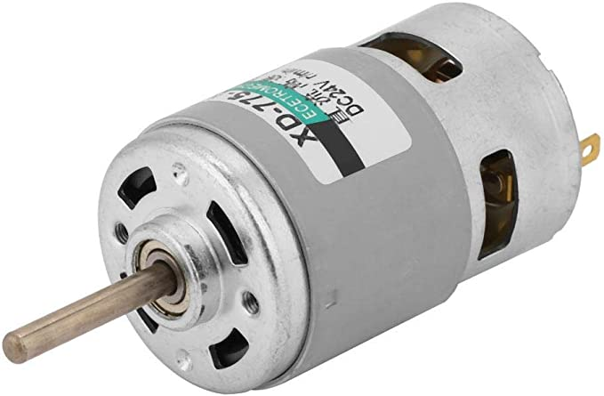 Motor de 775 de alta velocidad eje de extensión de par de alta potencia 80w Motor de corriente continua 12v//24v
