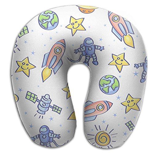 Hai Ni Memory Foam Neck Pillow Cushion Spaceship Space Pilot Comfy Soft U-Shape Cervical Pillow Head Support For Travel Office Home Sleeping