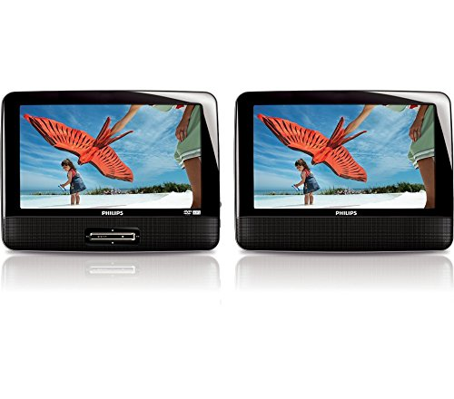 Philips PD9012 9-inch Dual Screen Portable DVD Player (Ce...