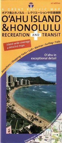 Oahu Island & Honolulu Road & Recreation Map, 1st ()