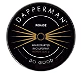 Dapperman - Pomade - Handcrafted All-Natural Oil Based Petroleum Free Strong Hold and Shine - Hair Styling Formula for Straight, Wavy, Curly Hair - 3.0oz