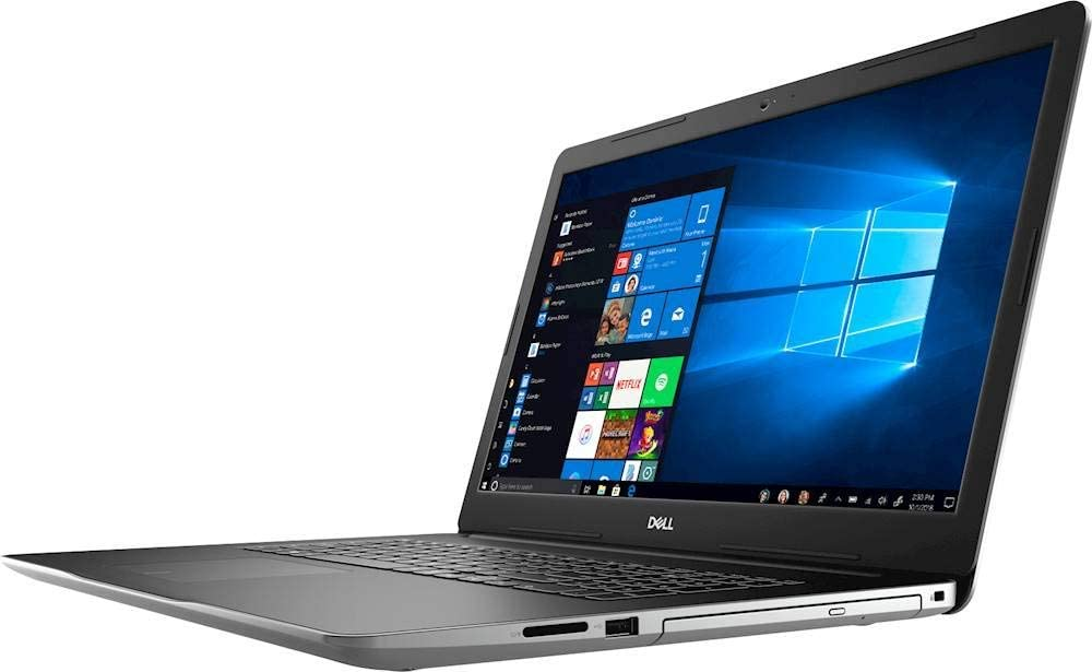 "Dell Inspiron 17 17.3"" i3793-7275SLV-PUS 10th Gen Intel Core i7-1065G7 16GB RAM 2TB HDD + 256GB SSD DVD-RW 2GB NVIDIA MX230 (1920 x 1080) Display Windows 10 Home (Renewed)"