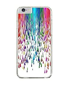 Paint Splat Rainbow colorful Clear Hardshell Case for iPhone 6 (4.7)