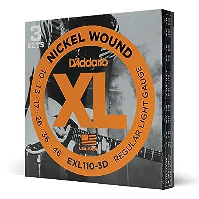 D'Addario Nickel Wound Electric Guitar Strings