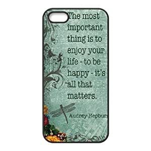 Audrey Hepburn Quote DIY Cover Case with Hard Shell Protection for Iphone 5,5S Case lxa#904711