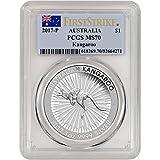 2017 AU Australia Silver Kangaroo (1 oz) First Strike $1 MS70 PCGS