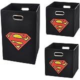 Superman Logo Storage and Laundry Bundle Pack, Black