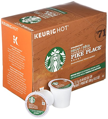 Starbucks kcups pike place decaf