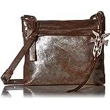 FRYE Carson Zip Crossbody Leather Bag, Silver/Multi , One Size