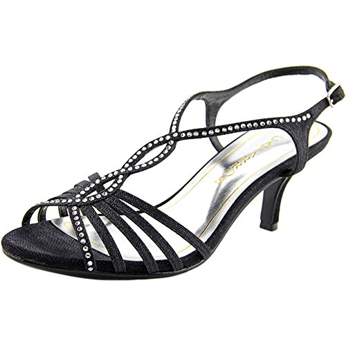 Caparros Womens Sabrina Open Toe Special Occasion, Black Glitter, Size 6.0
