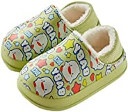 YWY Toddler Boys Girls Slippers Lined Clogs Kids Waterproof Warm Slippers Winter Non-Slip Indoor Outdoor Carto