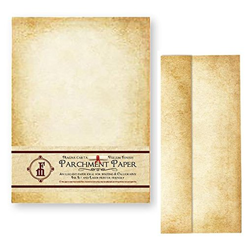 Aged Parchment Paper Stationery Set 20