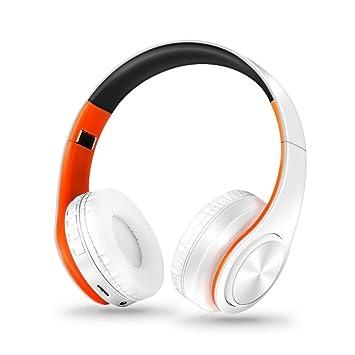 Auriculares inalámbricos con Bluetooth, plegables, estéreo, para iPhone o Samsung, naranja, small: Amazon.es: Deportes y aire libre