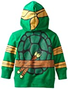 Nickelodeon Toddler Boys' Teenage Mutant Ninja Turtles Characters Hoodies, Green, 4T