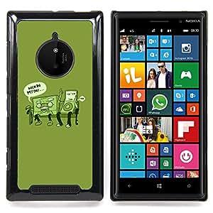 - Retro Music Love Life Time Funny Quote - Caja del tel????fono delgado Guardia Armor- For Nokia Lumia 830 Devil Case
