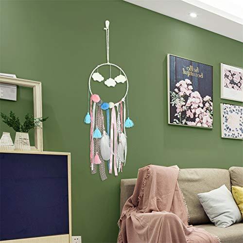 Dream Catcher,Dream Catcher Cloud Ornaments Room Decoration Cloud and Moon Wind Bell Pendant Dream Catcher (2pcs) ()