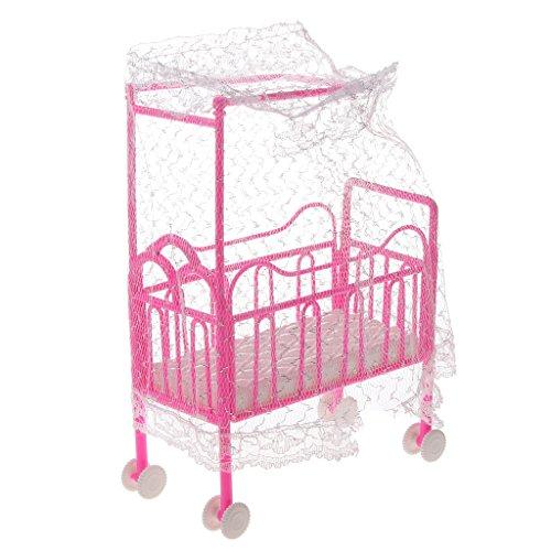 best Gazechimp 1 Set de Muebles Rosa Cama con Cuna + Caballo ...