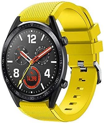 Sport Correa para Huawei Watch GT, Heligen Reemplazo de Silicona Suave de Moda Deportiva, Correas para Relojes de Hombre y Mujeres, 22mm