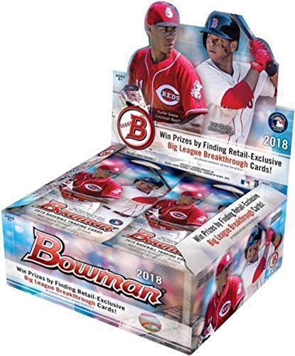 Prospects Baseball Cards Box - 2018 Bowman Baseball Retail Box (24 Packs/10 Cards)