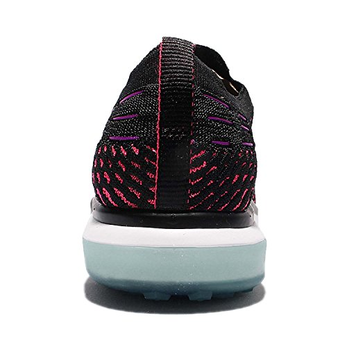 Nike Womens Air Zoom Fearless Flyknit Running Shoes-Black/White-7.5