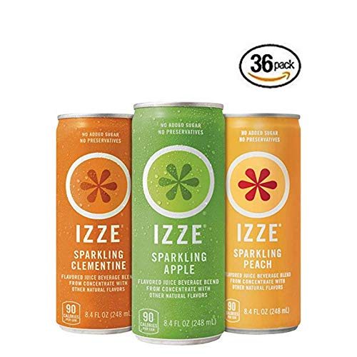 IZZE Sparkling Juice, 3 Flavor Variety Pack, 8.4 oz Cans, 36 Count - 36 pack