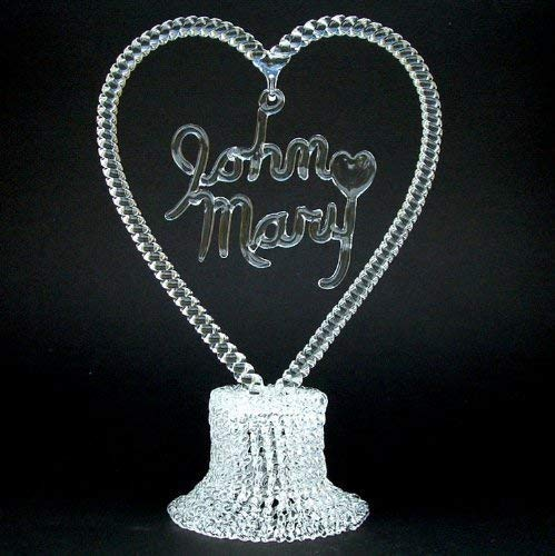 Personalized Wedding Cake Topper of Hand Blown - Blown Glass Cake Wedding Toppers Hand