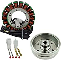 Kit Stator + Magneto Flywheel for Arctic Cat TBX 400 / TRV 400/375 / 400 Manual Automatic 2002-2008 TBX400 TRV400 | OEM Repl.# 3430-054 3430-071/0802-037/3430-053