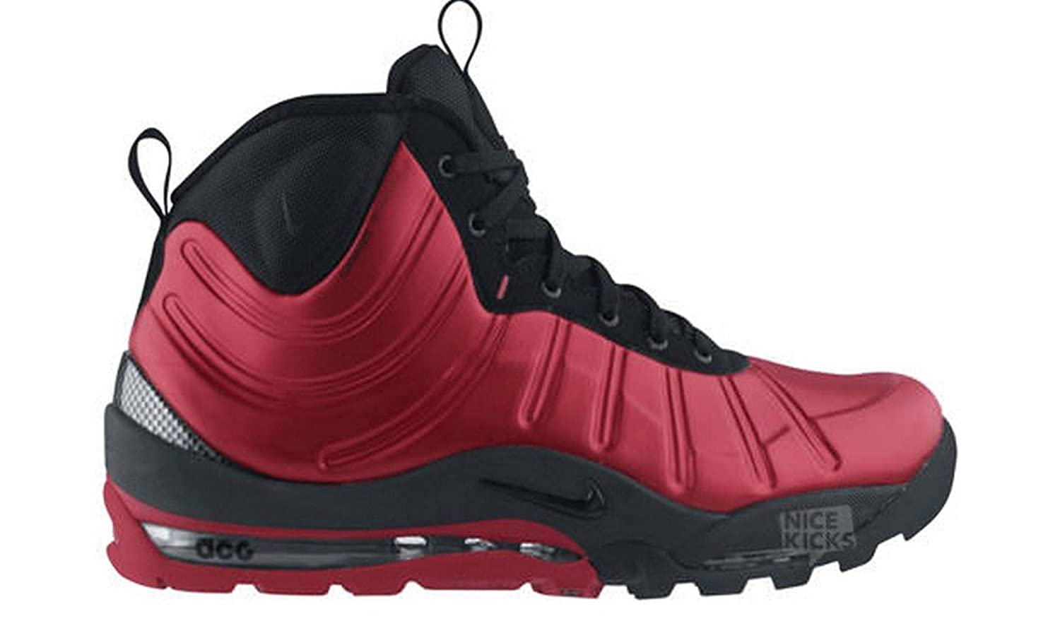 Amazon.com | NIKE Air Max Bakin Boot (GS) 415116 601 red/black (7) | Boots