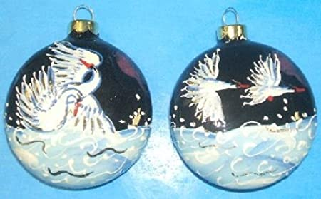 xgr6 mrs341 majestic swans traditional russian ceramic christmas