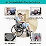 Turquoize Gel Seat Cushion Pain Relief Egg Gel Pad Seat Cushion Honeycomb Design Pressure Absorbs Sitter Elastic Support Chair Pad Office, Dinner, Driving, Wheelchair & Mobility Scooter Cushions