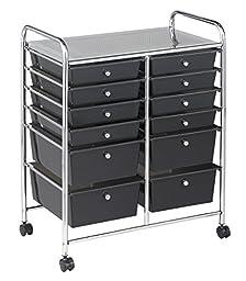 ECR4Kids 12-Drawer Mobile Organizer, 31.75\