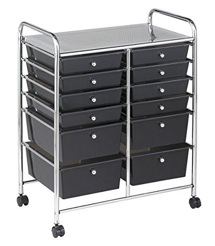 ECR4Kids 12-Drawer Mobile Organizer, 31.75