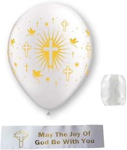 "28/"" Blue Boy CROSS Mylar Supershape Baptism Birth Christening Religous Balloon"