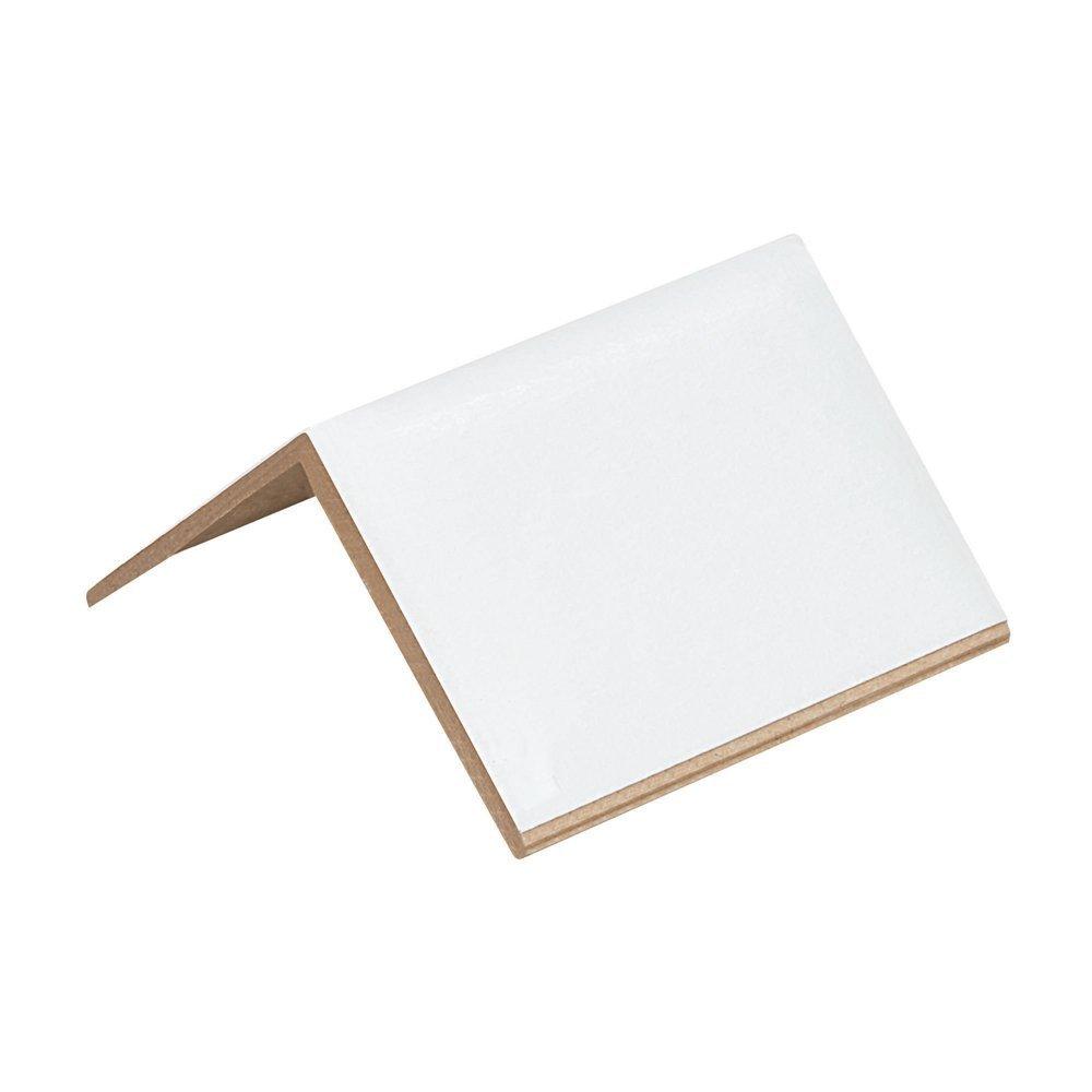 150 Cardboard Edge Corner Strapping Protectors - 2'' x 2'' x 3'' - White - Light Duty 0.120''