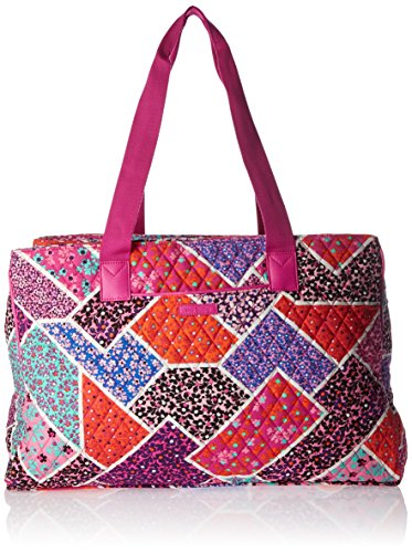 Vera Bradley Triple Compartment Travel Bag, Modern Medley Pink by Vera Bradley