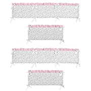 Pink and Gray Kenya Collection Crib Bumper by Sweet Jojo Designs