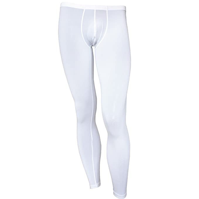 362987658 Sleep & Lounge iEFiEL Mens Ice Silk Bulge Support Sleep Bottom Lounge Pants  Home Meditation Tights